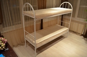 Двухъярусные металлические кровати. Односпальные кровати.